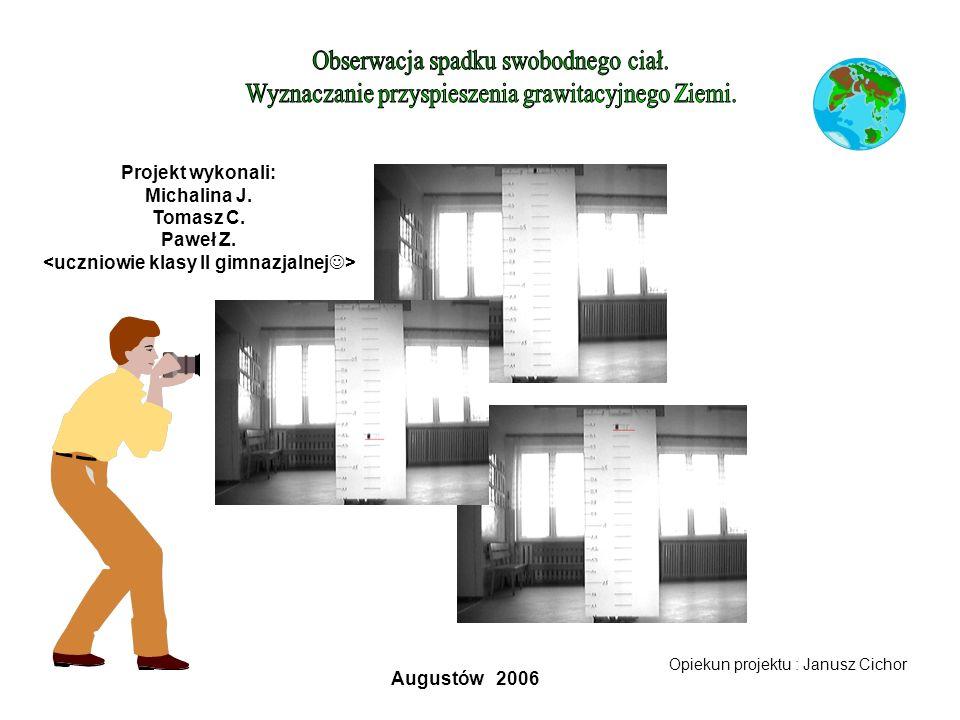 Projekt wykonali: Michalina J. Tomasz C. Paweł Z. Opiekun projektu : Janusz Cichor Augustów 2006