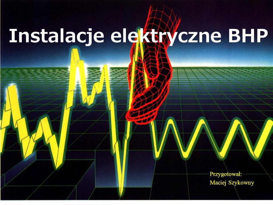Napięcie długotrwale dopuszczalne Za napięcie długotrwale dopuszczalne uznawane są wartości 50,25,12 i 6V prądu przemiennego i 120, 60, 30 i 15 V prądu stałego, w zależności od warunków środowiskowych.