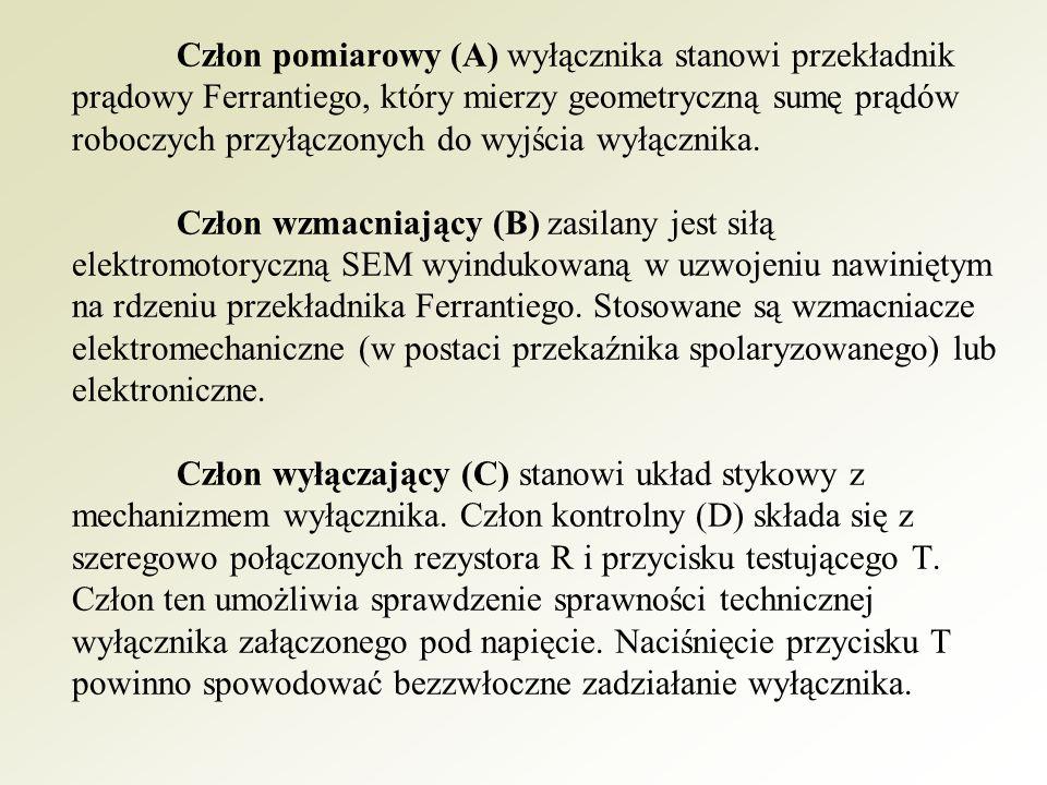 Zasada działania wyłącznika różnicowoprądowego polega na pomiarze sumy prądów pobieranych przez odbiornik.