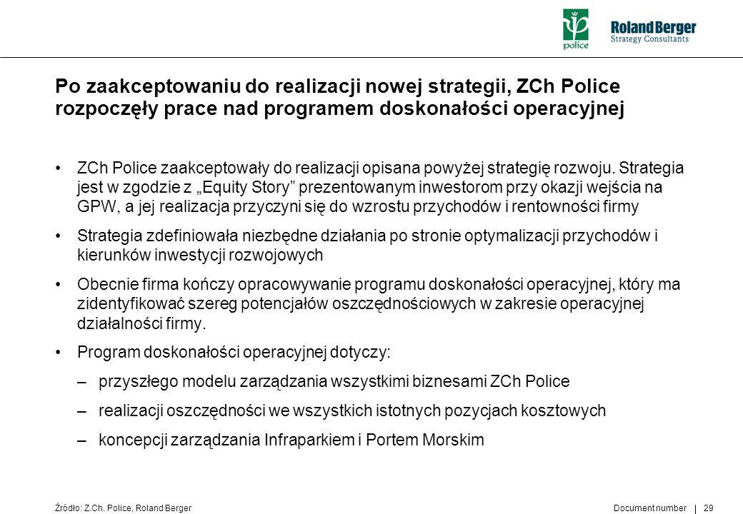 Document number 29 ZCh Police zaakceptowały do realizacji opisana powyżej strategię rozwoju. Strategia jest w zgodzie z Equity Story prezentowanym inw