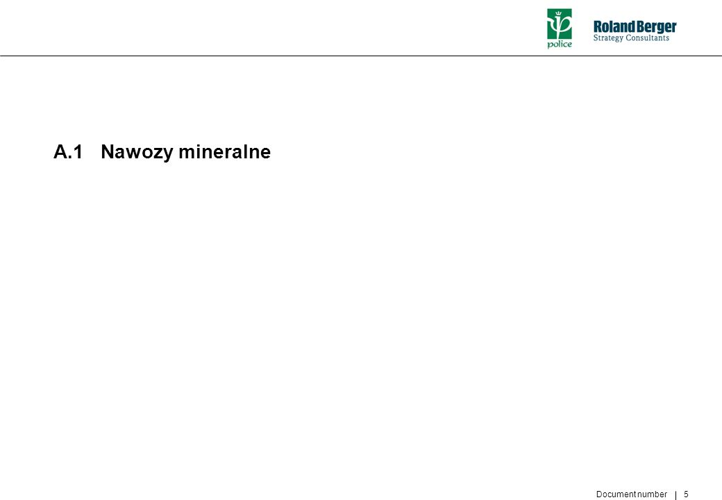 Document number 5 A.1 Nawozy mineralne