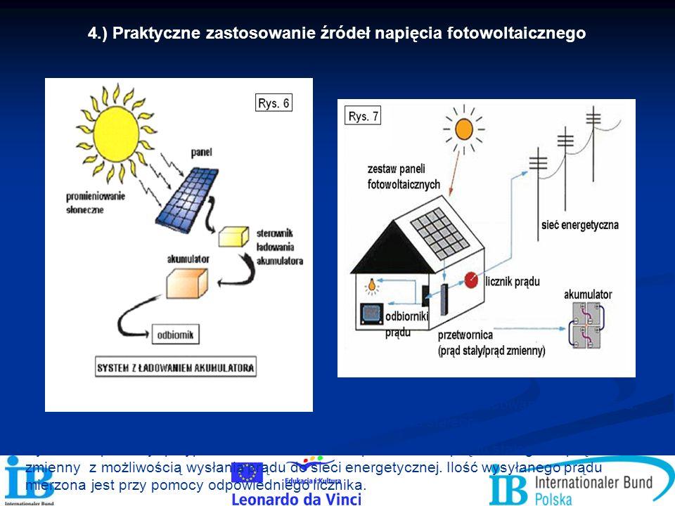 4.) Praktyczne zastosowanie źródeł napięcia fotowoltaicznego Rysunek 6 przedstawia wykorzystanie napięcia fotowoltaicznego do ładowania akumulatora. P