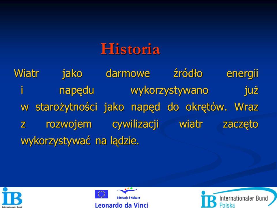 Polska należy do krajów średnio zasobnych w energię wiatru.