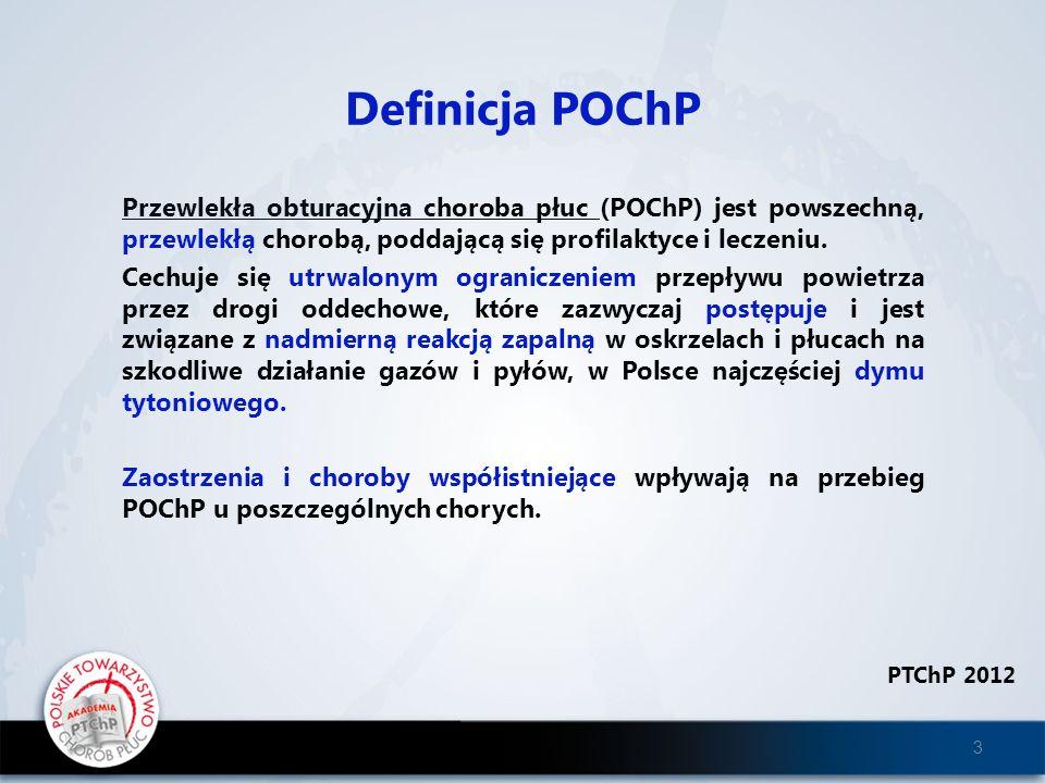 Przewlekła obturacyjna choroba płuc (POChP) jest powszechną, przewlekłą chorobą, poddającą się profilaktyce i leczeniu. Cechuje się utrwalonym ogranic