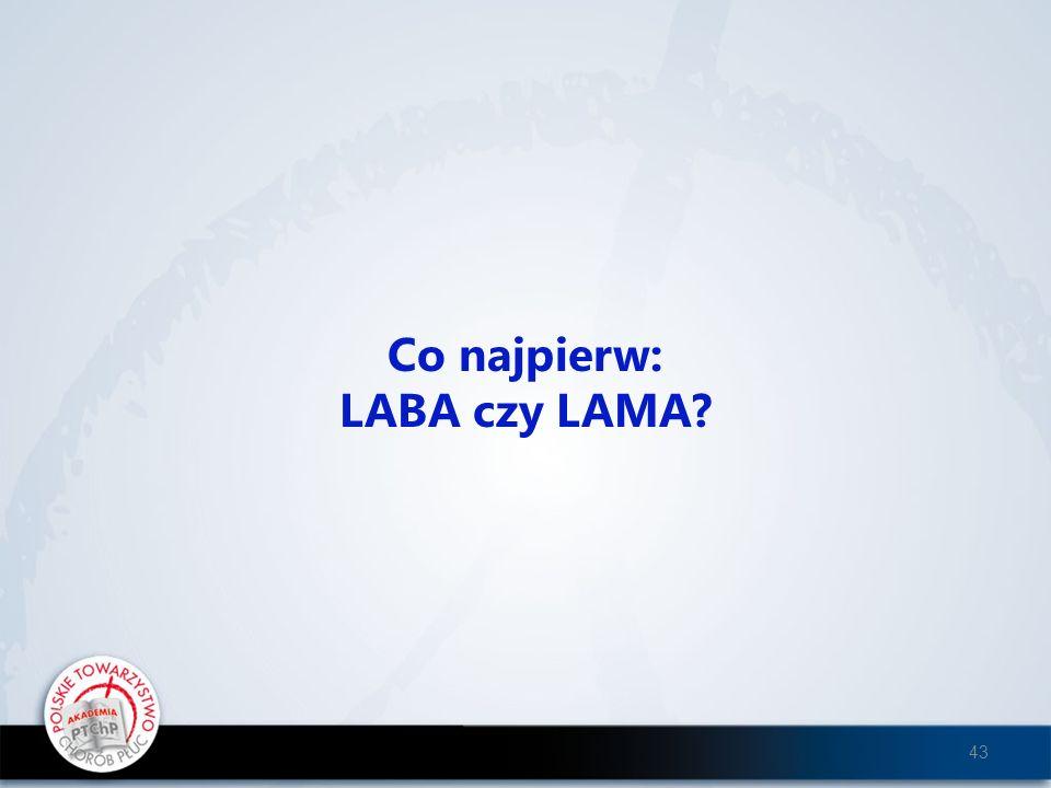 Co najpierw: LABA czy LAMA? 43