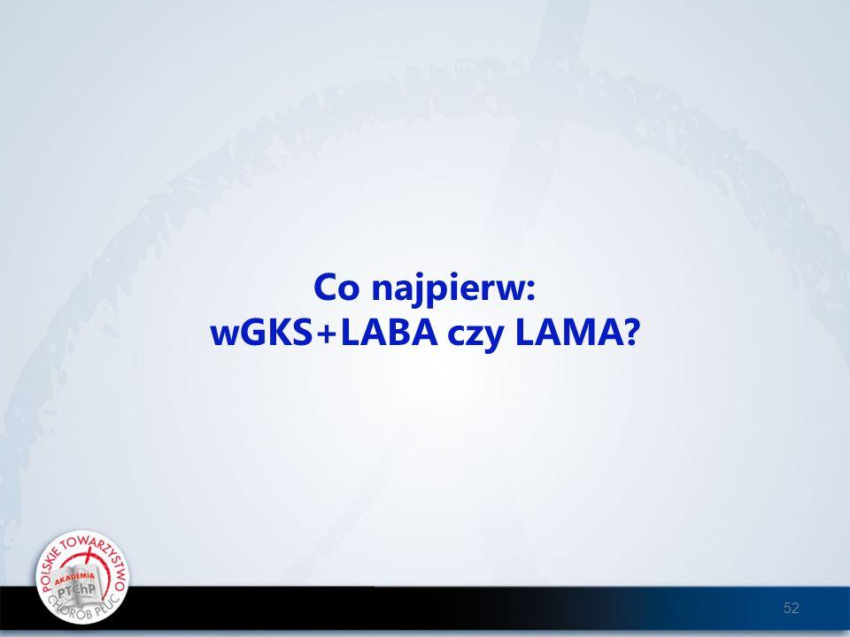 Co najpierw: wGKS+LABA czy LAMA? 52