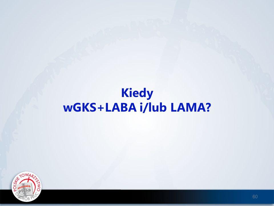 Kiedy wGKS+LABA i/lub LAMA? 60