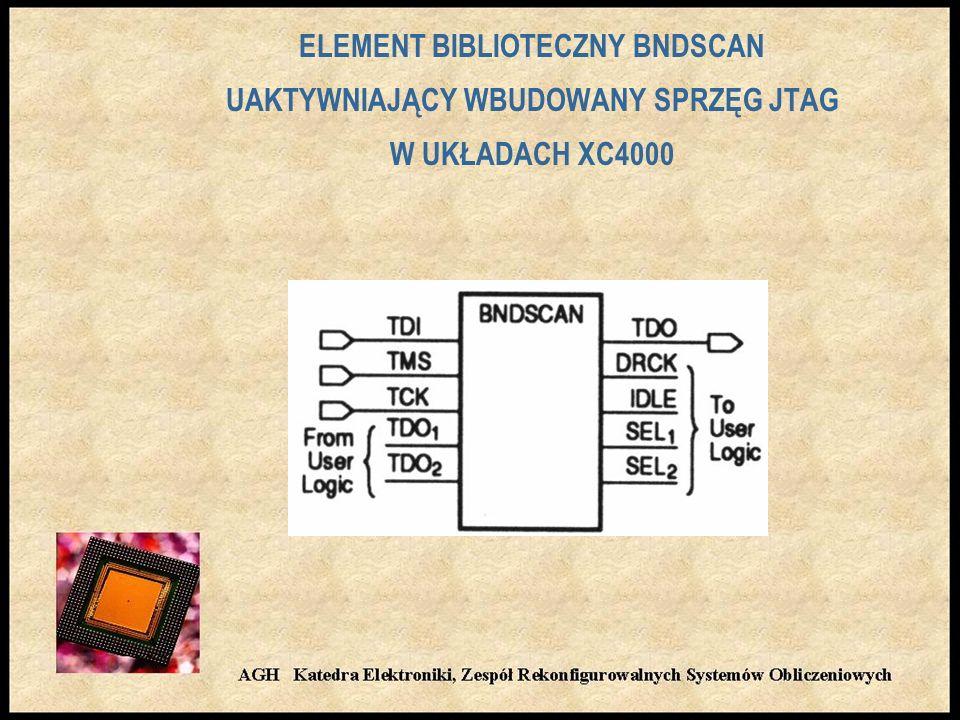 ELEMENT BIBLIOTECZNY BNDSCAN UAKTYWNIAJĄCY WBUDOWANY SPRZĘG JTAG W UKŁADACH XC4000