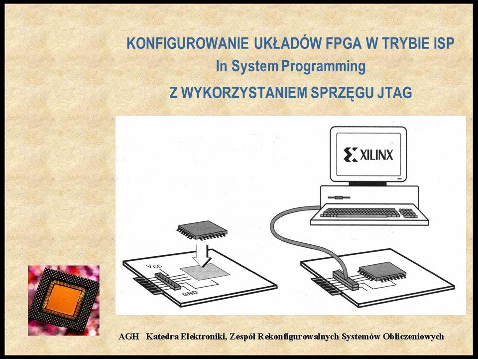 KONFIGUROWANIE UKŁADÓW FPGA W TRYBIE ISP In System Programming Z WYKORZYSTANIEM SPRZĘGU JTAG