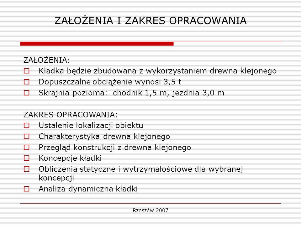 Rzeszów 2007 LOKALIZCJA OBIEKTU Zalew Soliński, miejscowość Polańczyk, przy drodze nr 984 Czarna - Hoczew.