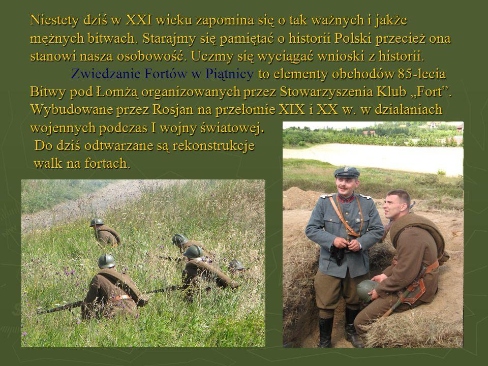 Niestety dziś w XXI wieku zapomina się o tak ważnych i jakże mężnych bitwach. Starajmy się pamiętać o historii Polski przecież ona stanowi nasza osobo