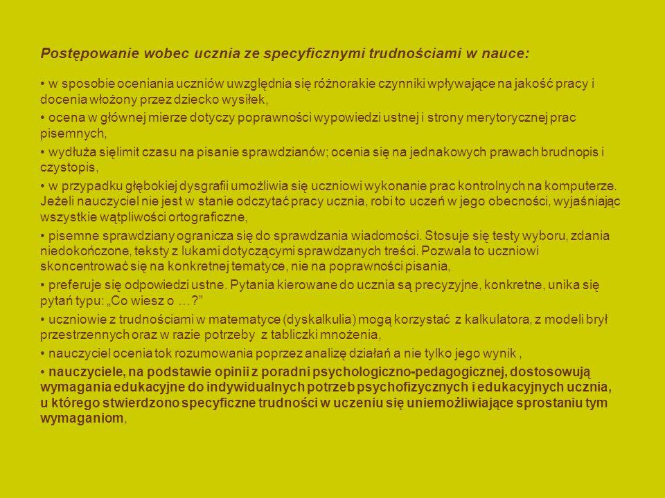Dysortografia: Zaburzenia percepcji słuchowej: trudności w słuchowym wyodrębnianiu wyrazów ( niemożność wydzielenia wyrazów ze zdań, sprawia, że niekt