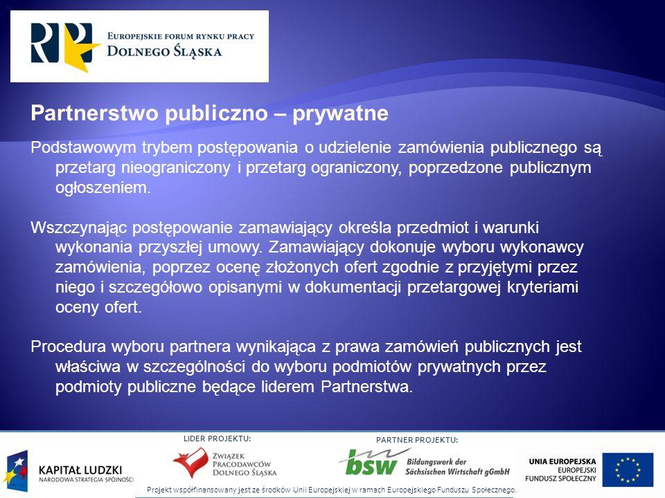 Projekt współfinansowany jest ze środków Unii Europejskiej w ramach Europejskiego Funduszu Społecznego. LIDER PROJEKTU: PARTNER PROJEKTU: Podstawowym
