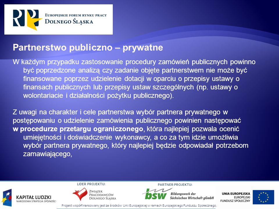 Projekt współfinansowany jest ze środków Unii Europejskiej w ramach Europejskiego Funduszu Społecznego. LIDER PROJEKTU: PARTNER PROJEKTU: W każdym prz