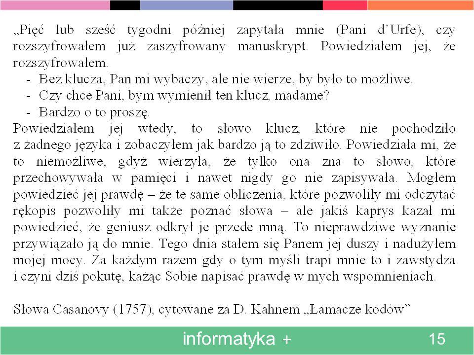 informatyka + 15