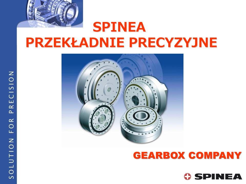 SPINEA skupiamy się na produckji sprzedaży i rozwoju wysoko precyzyjnych przekładni TwinSpin ® SPINEA to jedyna alternatywa dla Japońskichu producentów O FIRMIE SPINEA