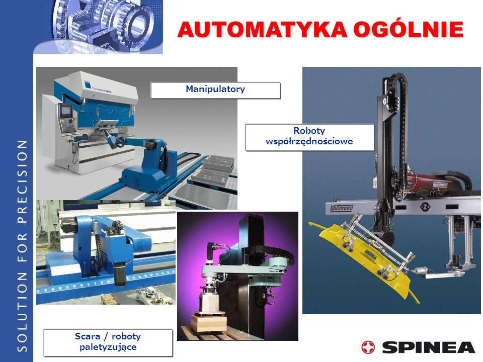 AUTOMATYKA OGÓLNIE Manipulatory Scara / roboty paletyzujące Roboty współrzędnościowe