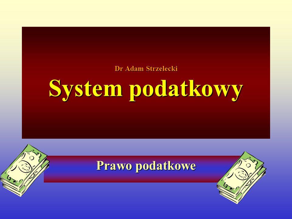 Aktualna problematyka budowy systemu podatkowego w Polsce Punktem wyjścia dla budowy systemu podatkowego jest Konstytucja i zawarte w niej następujące zasady: 1) ustawowy charakter obowiązku podatkowego i zasada legalizmu, 2) zasada powszechności i zasada sprawiedliwości, 3) zasada równości opodatkowania, 4) zasada stabilności.