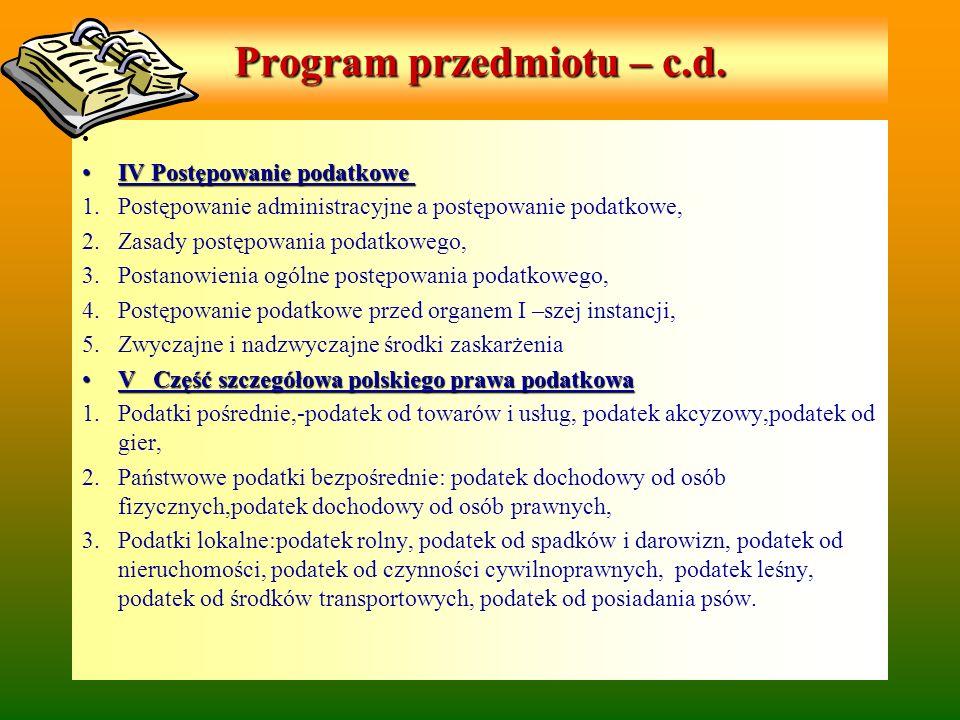 Podatki i opłaty samorządowe Podatek od nieruchomości (ustawa z 12 I 1991r.