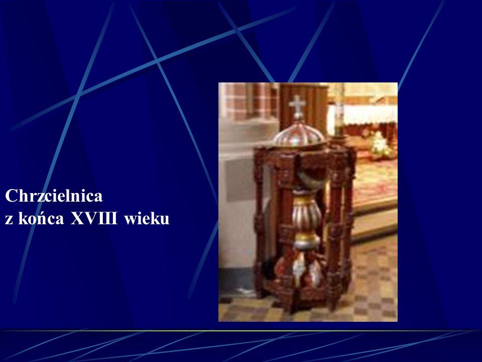 Chrzcielnica z końca XVIII wieku