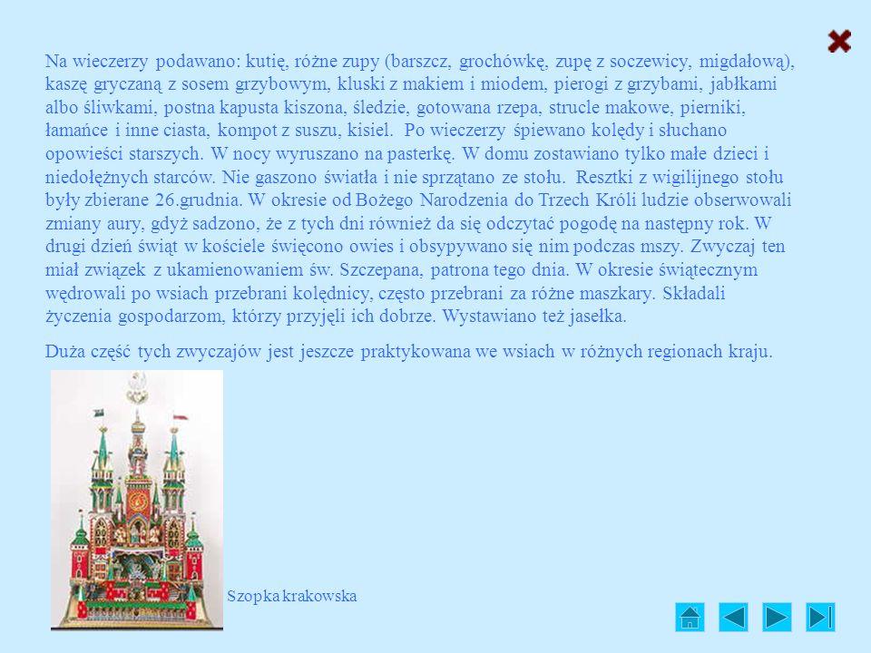 Świąteczne zwyczaje w Polsce Dawniej Czas Świąt Bożego Narodzenia był silnie przeżywany w dawnej Polsce i wiązał się z wieloma tradycjami, takimi jak