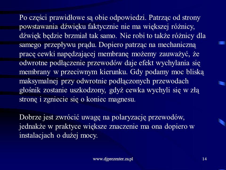www.djprezenter.za.pl14 Po części prawidłowe są obie odpowiedzi.