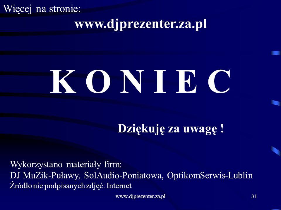 www.djprezenter.za.pl31 K O N I E C Dziękuję za uwagę .