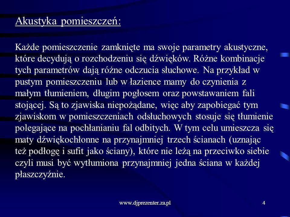 www.djprezenter.za.pl15 Ogólne zasady posługiwania się mikrofonem: Mikrofon ręczny należy trzymać za trzonek, a nie za kabel czy sitko.