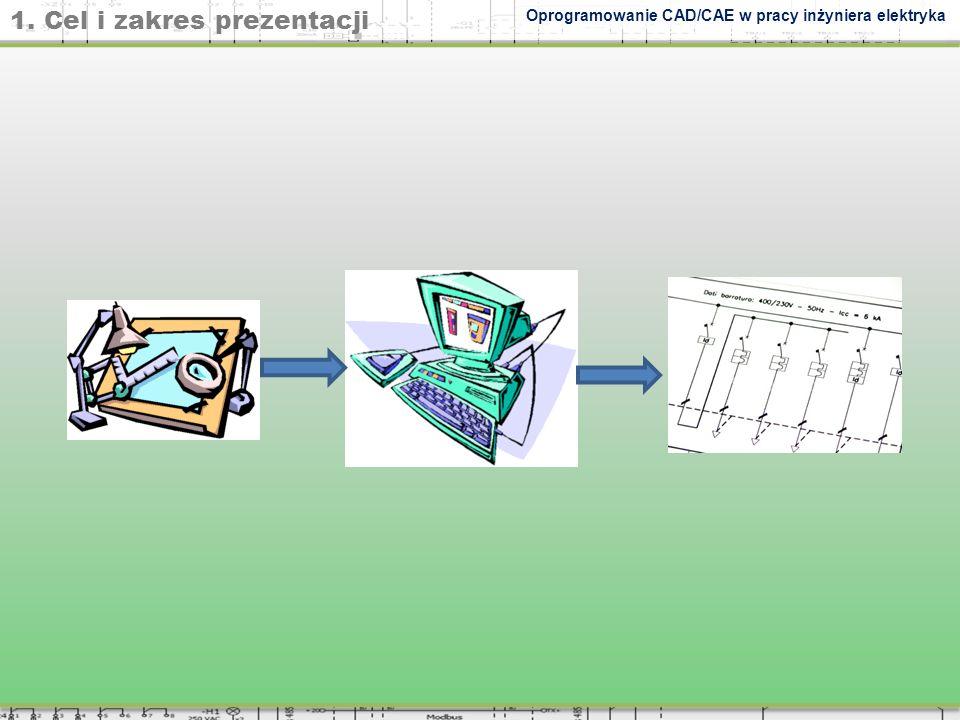 1. Cel i zakres prezentacji Oprogramowanie CAD/CAE w pracy inżyniera elektryka