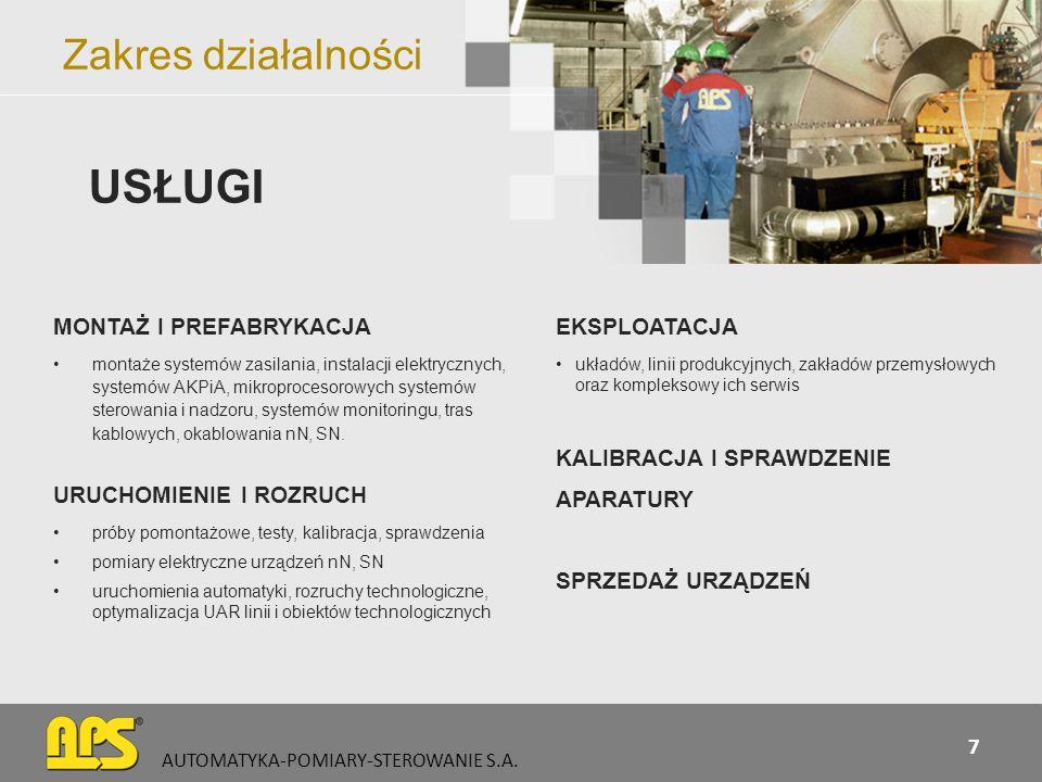 Sprzedaż urządzeń automatyki AUTOMATYKA-POMIARY-STEROWANIE S.A.