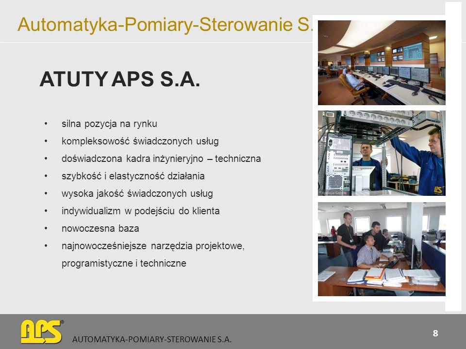 Automatyka-Pomiary-Sterowanie S.A. silna pozycja na rynku kompleksowość świadczonych usług doświadczona kadra inżynieryjno – techniczna szybkość i ela