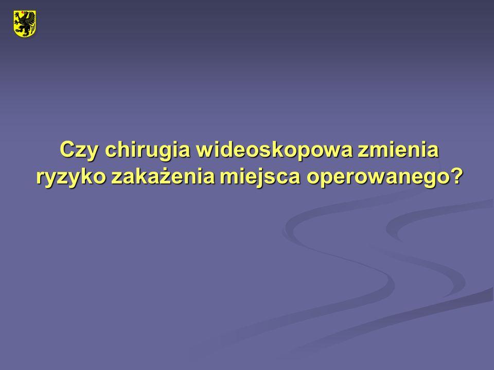 Zakażenie miejsca operowanego Zbigniew Gruca 1, Tomasz Stefaniak 1,2 1.