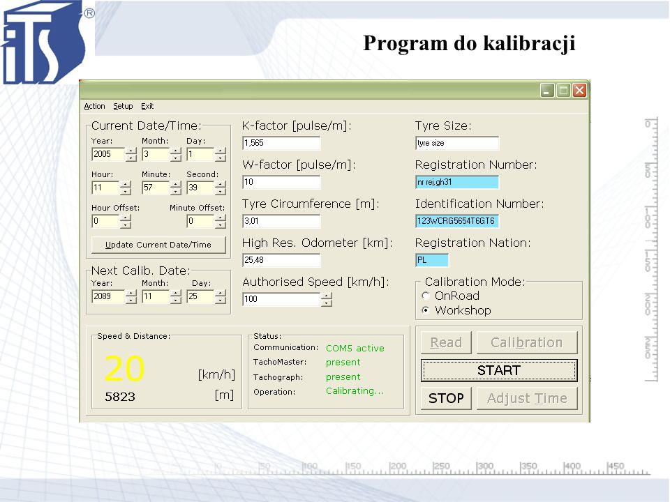 Program do kalibracji