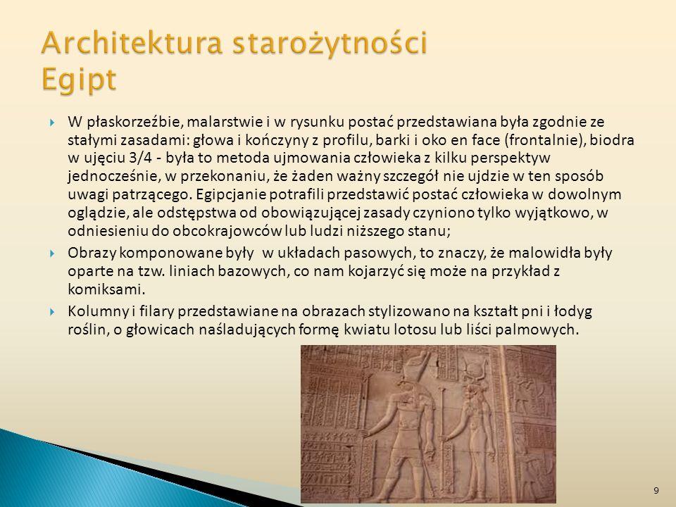 SZTUKA STAROŻYTNA jej częściami składowymi są: sztuka starożytnych Egipcjan, Greków i Rzymian. 20