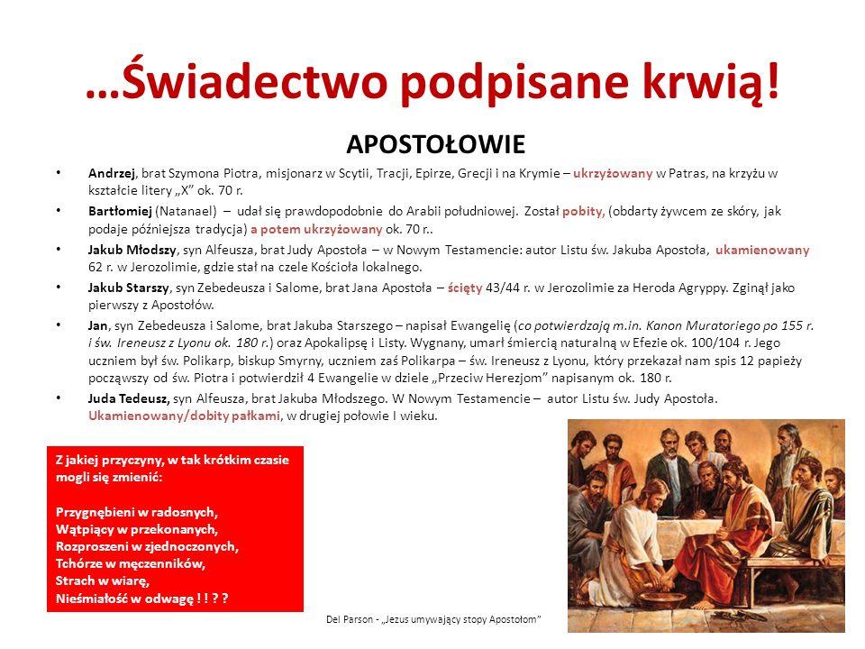 …Świadectwo podpisane krwią! APOSTOŁOWIE Andrzej, brat Szymona Piotra, misjonarz w Scytii, Tracji, Epirze, Grecji i na Krymie – ukrzyżowany w Patras,