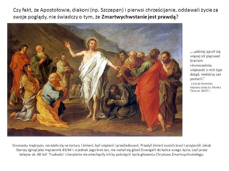 Dwunastu mężczyzn, narażało się na tortury i śmierć, byli więzieni i prześladowani. Przeżyli śmierć swoich braci i przyjaciół. Jakub Starszy zginął ja
