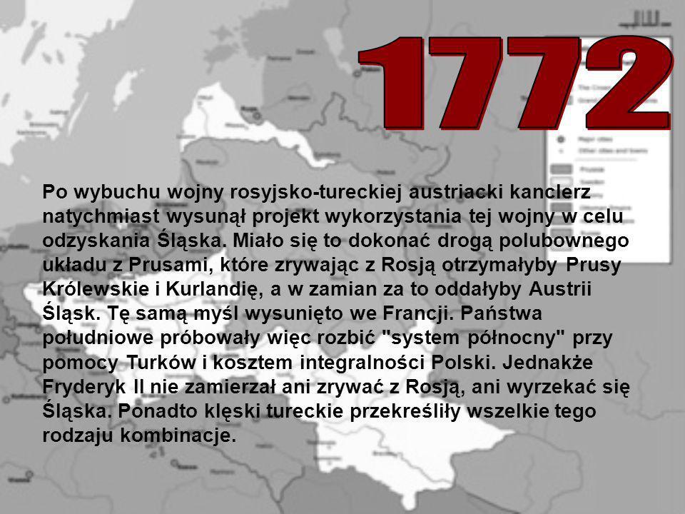 Po wybuchu wojny rosyjsko-tureckiej austriacki kanclerz natychmiast wysunął projekt wykorzystania tej wojny w celu odzyskania Śląska. Miało się to dok