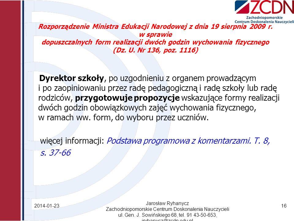 Rozporządzenie Ministra Edukacji Narodowej z dnia 19 sierpnia 2009 r.