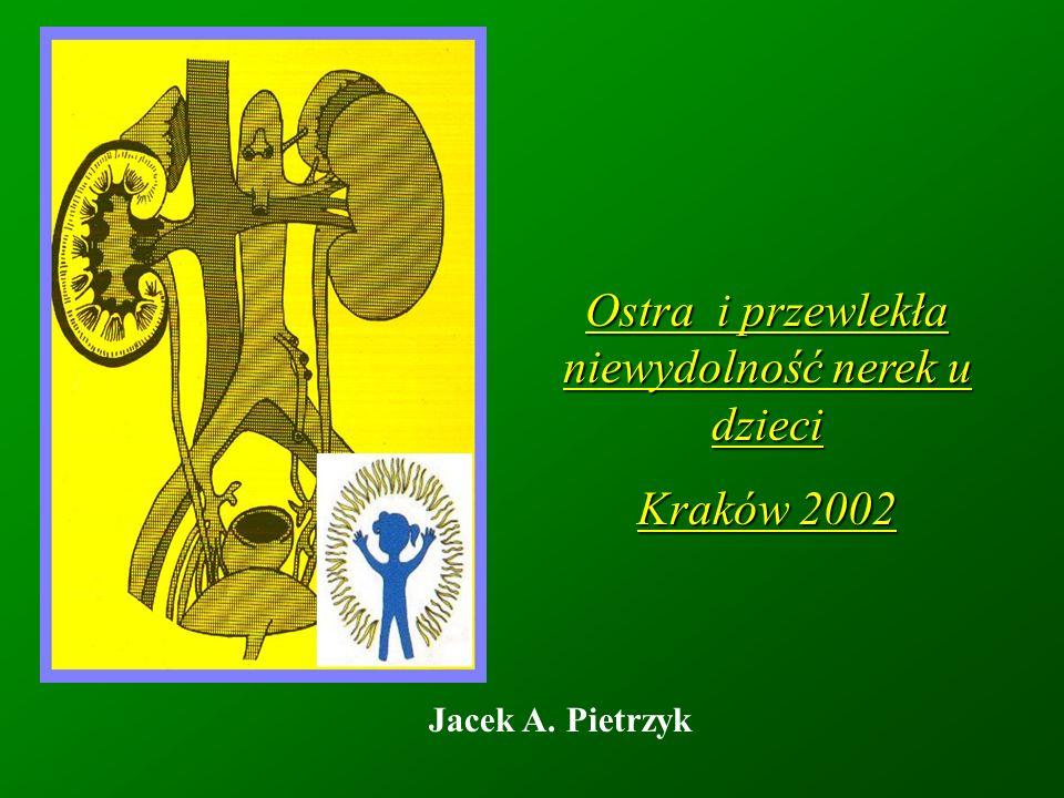 Kwasica metaboliczna 1.Alkalizacja doustna Mieszanka Schohla: Acidi citrici98,0 Natrii citrici140,0 Acquae destillataead 1000,0 Dawka: od 5 ml / dzień (małe dziecko, łagodna kwasica) do 3-4 razy 15-20 ml (duże dziecko, nasilona kwasica) 2.Alkalizacja w trakcie dializy (płynem dializacyjnym) Hemodializa (wodorowęglany lub octany) Dializa otrzewnowa (mleczany lub wodorowęglany)
