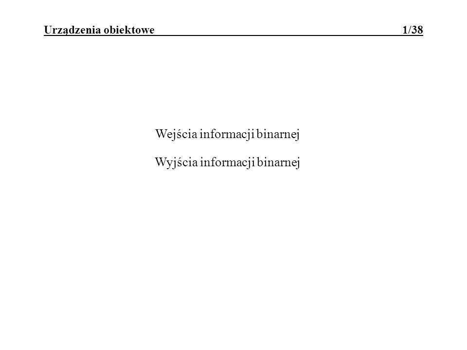 Urządzenia obiektowe 1/38 Wejścia informacji binarnej Wyjścia informacji binarnej