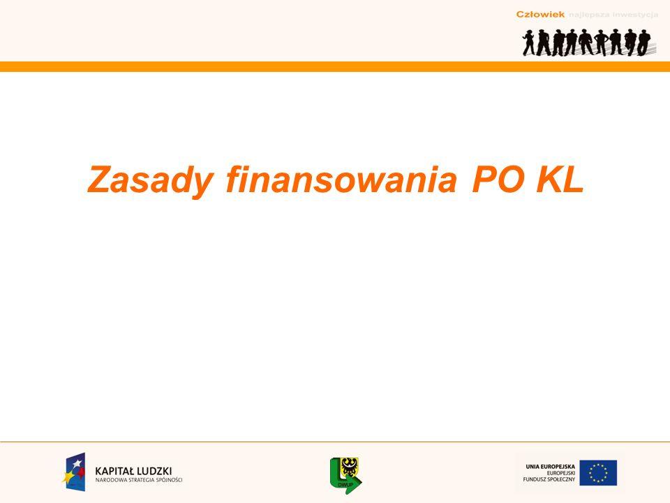 Zasady finansowania PO KL