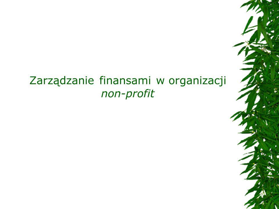 Zarządzanie finansami w organizacji non-profit