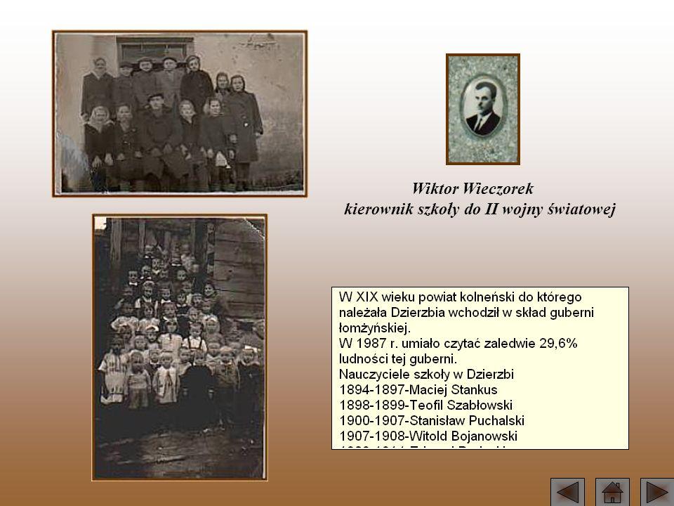Wiktor Wieczorek kierownik szkoły do II wojny światowej