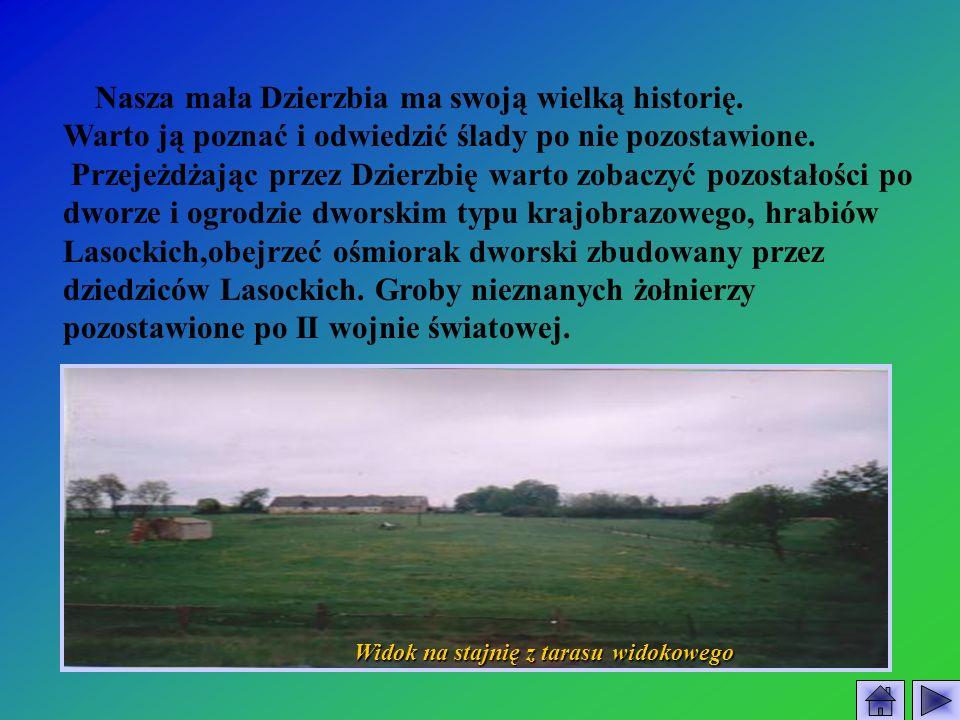 Nasza mała Dzierzbia ma swoją wielką historię. Warto ją poznać i odwiedzić ślady po nie pozostawione. Przejeżdżając przez Dzierzbię warto zobaczyć poz