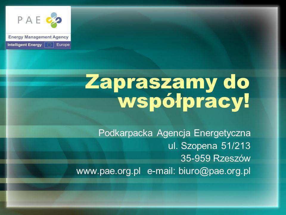 Zapraszamy do współpracy.Podkarpacka Agencja Energetyczna ul.