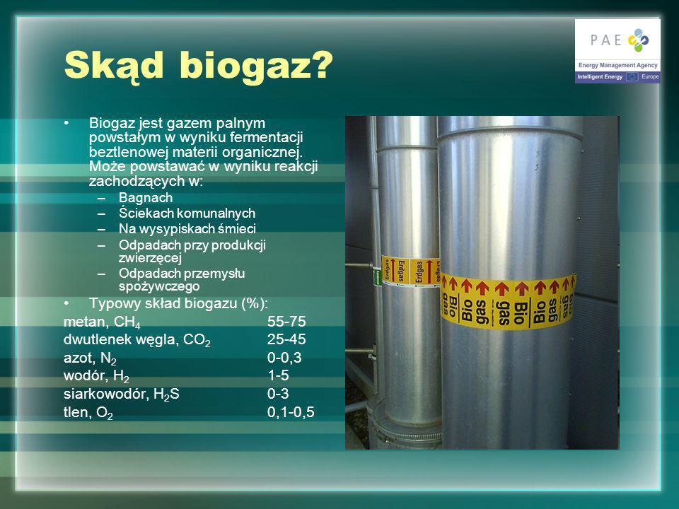 Skąd biogaz.