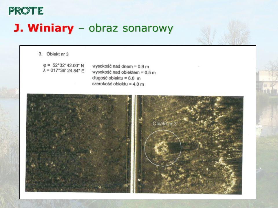 J. Winiary – obraz sonarowy