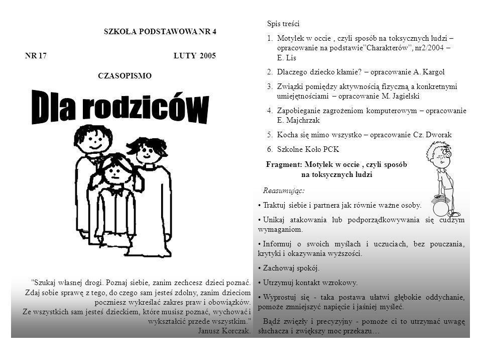 SZKOŁA PODSTAWOWA NR 4 NR 17 LUTY 2005 CZASOPISMO