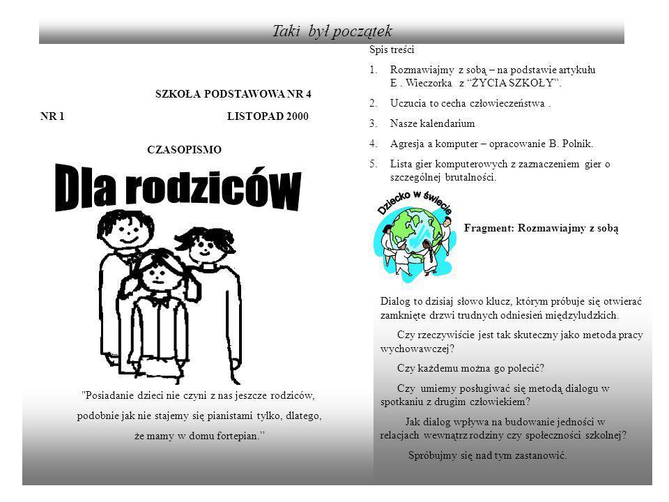SZKOŁA PODSTAWOWA NR 4 NR 22 GRUDZIEŃ 2006 CZASOPISMO Dzieci są zwierciadłami.