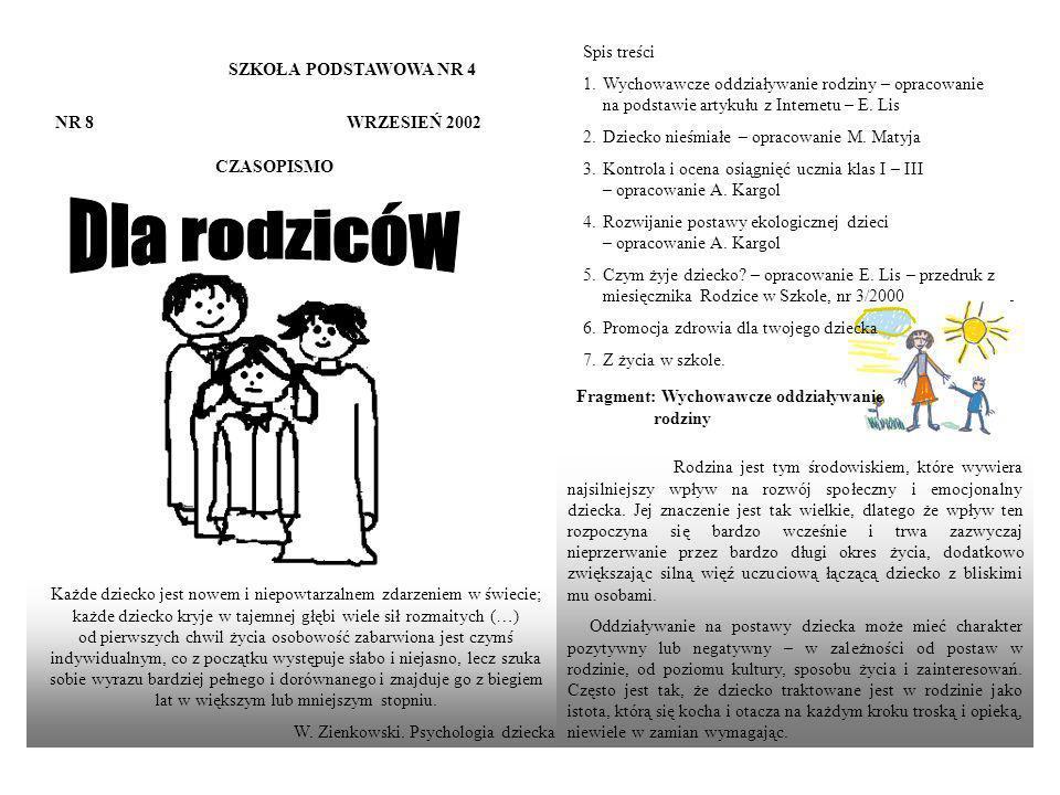 SZKOŁA PODSTAWOWA NR 4 NR 19 LISTOPAD 2005 CZASOPISMO....